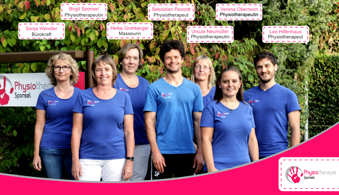 Das Team der Physiotherapiepraxis Sponsel